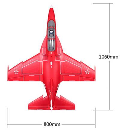 FMS Yak 130 Dimensions