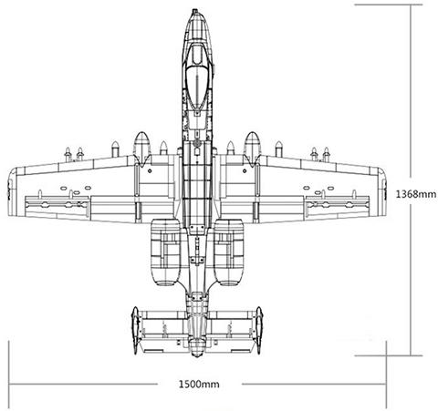 FMS A-10 Dimensions