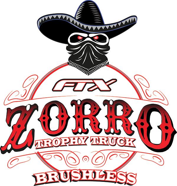 FTX ZORRO 1/10 TROPHY TRUCK EP BRUSHLESS 4WD RTR-ORANGE/WHITE LOGO