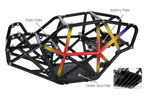 Gmade R1 Chassis details