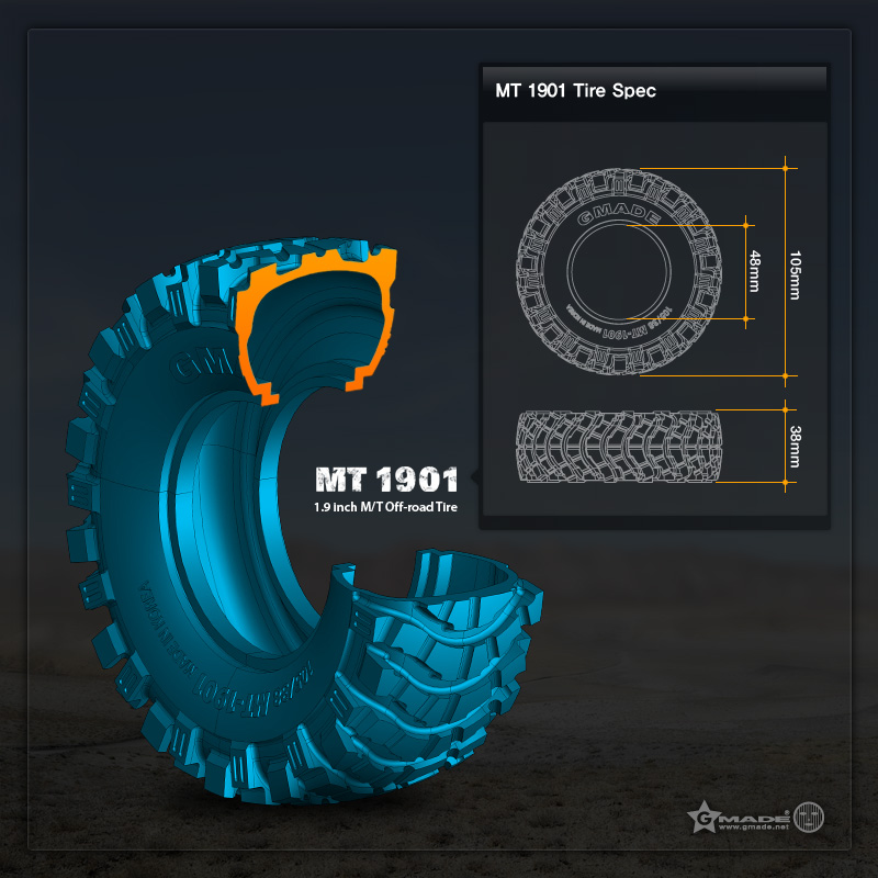 MT1901 Tyre Size