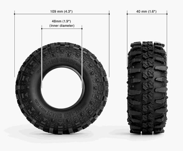 MT1903 Tyre Size