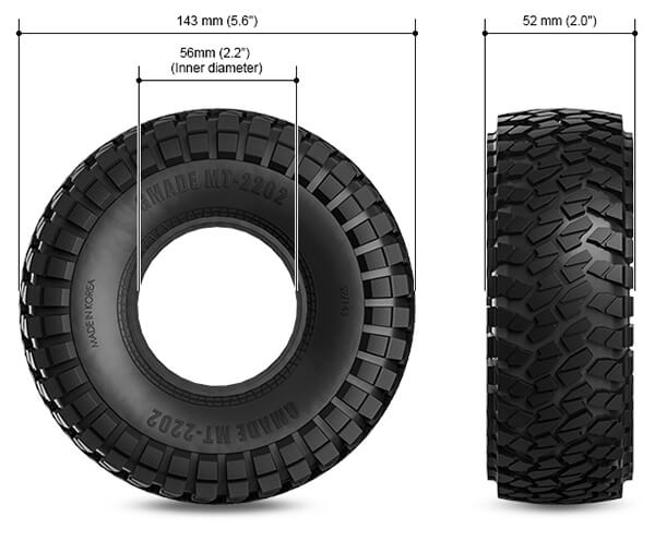 MT1904 Tyre Size