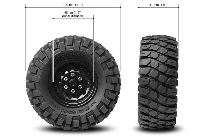 Gmade 1 9 Mt 1902 Off Road Tyres 2 Gm70244