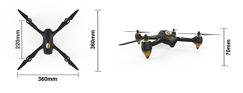 H501S Quadcopter Dimensions