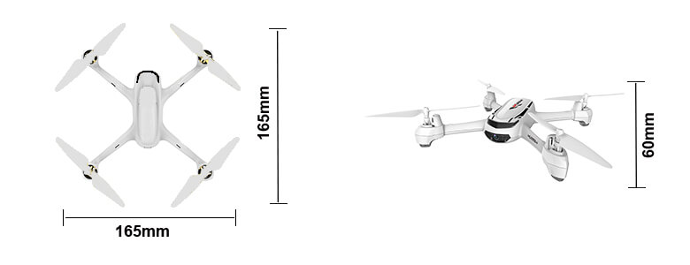 H502S Quadcopter Dimensions