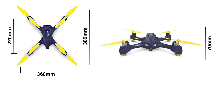 H507A Quadcopter Dimensions