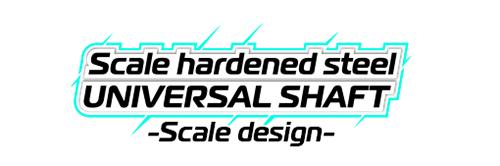 GMADE - JUNFAC SCALE AXIAL SCX10 II 4WD UNIV. SHAFT HARDENED STEEL LOGO