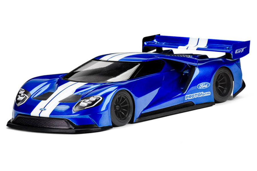 Protoform 39 ford gt 39 200mm pan car gt regular clear body for Car paint simulator