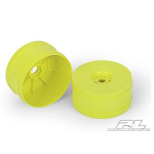Lightweight Velocity Yellow Front or Rear Wheels for 1:8 Buggy