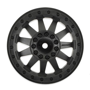 F-11 2.8'' (Traxxas Style Bead) Black Rear Electric Wheels for Electric Stampede/Rustler Rear
