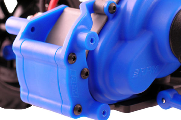 RPM Rear Bumper Mount for the Traxxas Slash, e-Rustler, e-Stampede & Bandit - Blue
