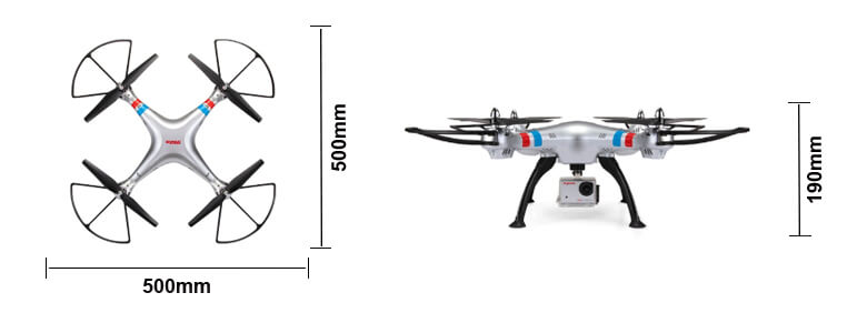 syma x8g 2 4g quadcopter drone w  hd 8mp camera  u0026 headless
