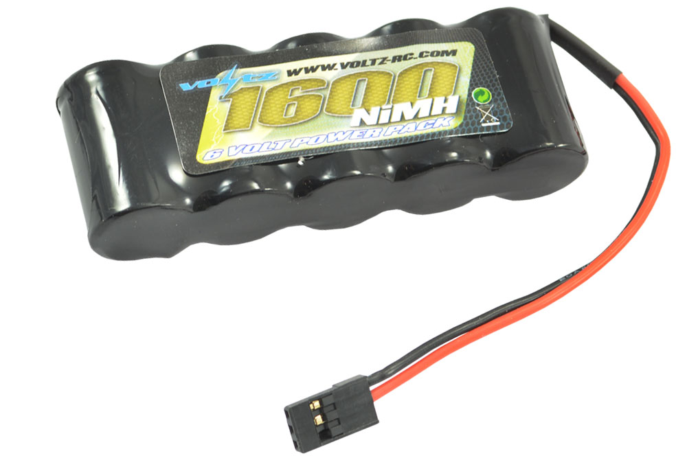Voltz 1600Mah 6.0V RX Straight Battery (for receiver)  w/ JR Plug VZ0111