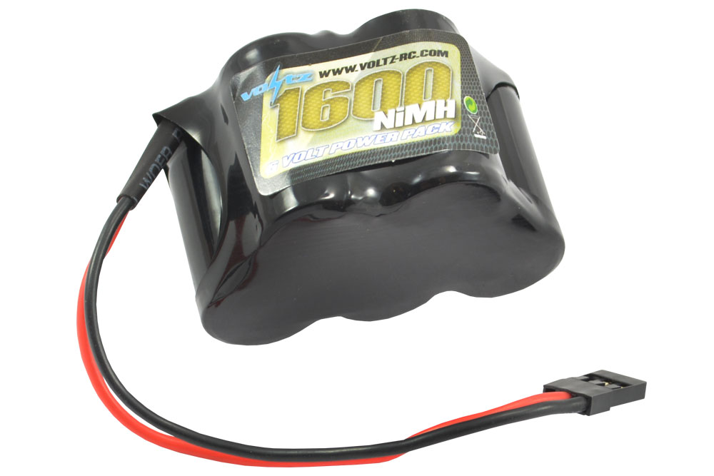 VOLTZ 1600MAH 6.0V NIMH RX HUMP BATTERY W/ JR PLUG VZ0112
