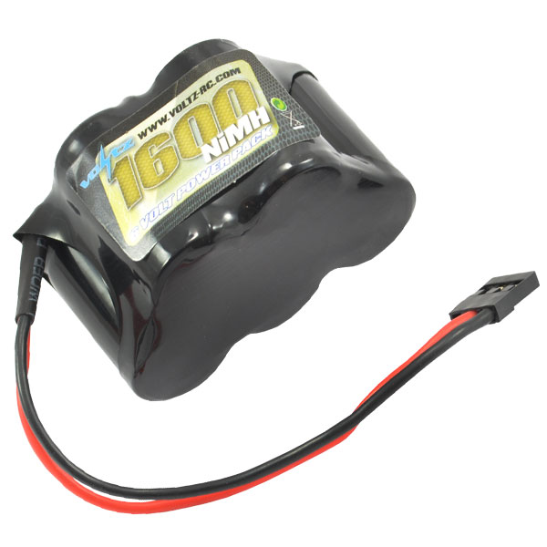 1600mah 6.0v NiMH Hump RX Pack Battery