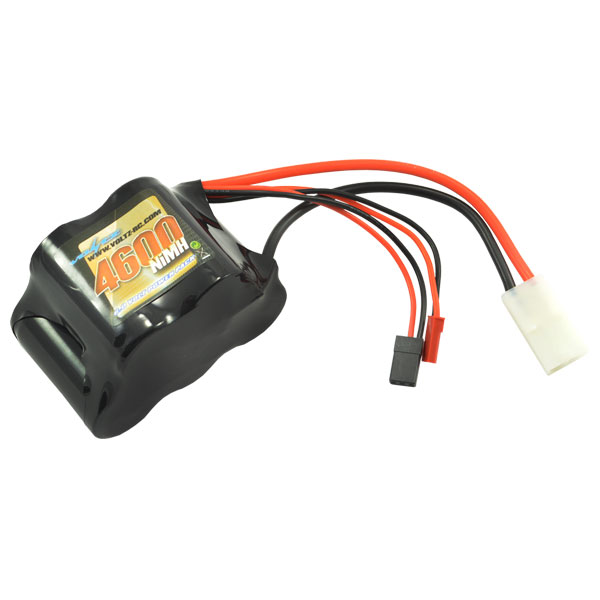 4600mAh 6.0v Receiver Sub-C hump pack Battery w/ BEC/JR plug