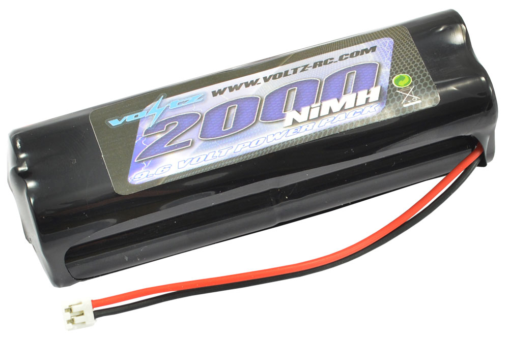 Voltz 2000mAh 9.6v TX Pack Battery with JR/Spectrum Connector